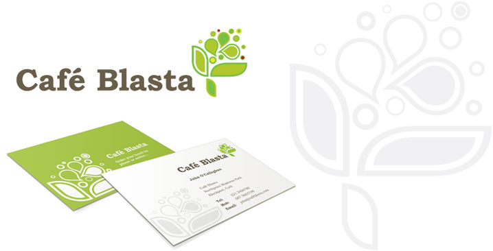 blasta logo and business cards