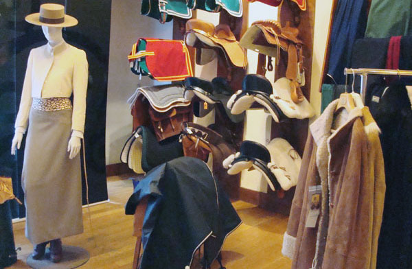 El Caballo Traditional Equestrian Products on Display in the Shop