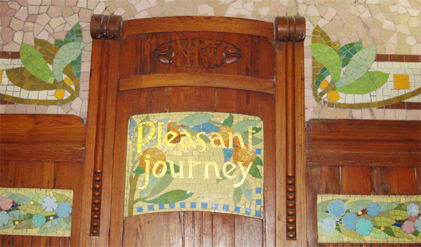 Another example of nice typography in mosaic, 'Pleasant Journey'